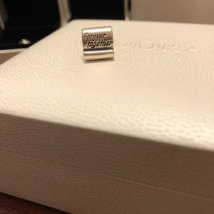 Authentic Pandora Forever Together Scroll Charm